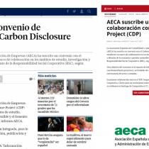 AECA suscribe un convenio de colaboración con el Carbon Disclosure Project (CDP)