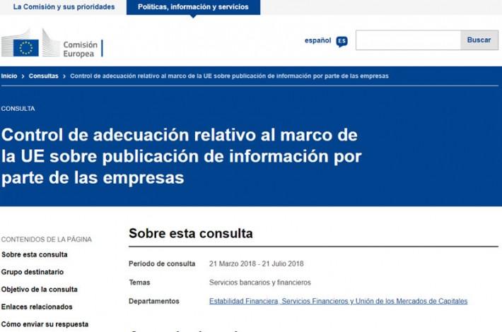 AECA responde a la consulta pública de la CE en materia de información por parte de las empresas